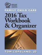 Family Child Care 2016 Tax Workbook and Organizer